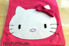 Hello kitty applique tutorial and free pattern.  This is the one I used!