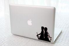 Kirito and Asuna Sword art online - Macbook Decal sticker / Laptop Decal sticker