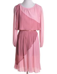 Vintage Day Dress Rose Pink With Contrasting Panels