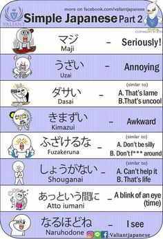 Simple Japanese expressions