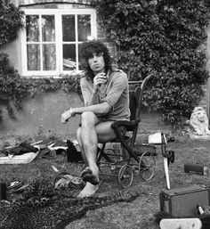 Keith Richards in the 70s - outside his Redlands home in Sussex
