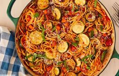 Vegetable Spaghetti Has More Fun Spaghetti Recipes, Pasta Recipes, Cooking Recipes, Pasta Meals, Parmesan Recipes, Cooking Tips, Vegetable Entrees, Veggie Recipes, Meatless Recipes