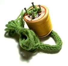 french knitting using an old spool
