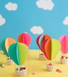 Hot Air Balloon Favors DIY   Oh Happy Day!