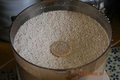 Dried, ground eggshells for the garden (adds calcium, nitrogen, etc.)