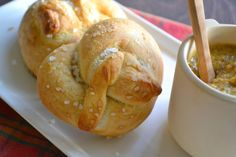 Soft Pretzels with Mustard More