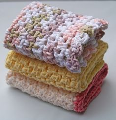 Crochet Dish Cloth Pattern (difficulty level:beginner)