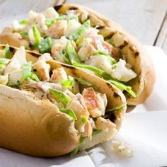 Grilled Lobster Rolls -- All around Maine's Penobscot Bay, lobster rolls set the standard for homey, simple, Down East fare. Uncooked lobster tails are available in the freezer section of most supermarkets.