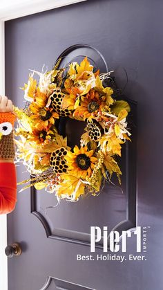 From fall gatherings to holiday parties, we're entering that time of year when your front door sees a lot of action. Give each visitor a warm welcome all season long with Pier 1 wreaths. Wreaths And Garlands, Deco Mesh Wreaths, Burlap Wreaths, Door Wreaths, Grapevine Wreath, Christmas Mesh Wreaths, Holiday Wreaths, Winter Wreaths, Spring Wreaths