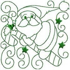 Swirly Xmas - Free Instant Machine Embroidery Designs Christmas Embroidery Patterns, Embroidery Sampler, Hand Embroidery Patterns, Embroidery Applique, Cross Stitch Embroidery, Machine Embroidery Designs, Christmas Sewing, Christmas Crafts, Christmas Paintings