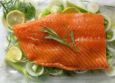 Fish  Known for their omega 3 fats and for being a high protein food, fish are also a good source of vitamin B12. Mackerel provides the most vitamin B-12 with 19μg per 100g serving (317% RDA), followed by Herring (312% RDA), Salmon (302%), Tuna (181%), Cod (167%), Sardines (149%), Trout (130%), and Bluefish (104%).   Canned Fish Highest in Vitamin B12.