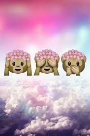 Image result for emoji monkey with flower crown wallpaper