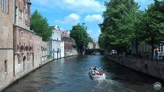 A canal tour through Bruges, Belgium