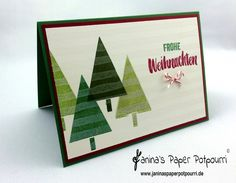 jpp - Velveteen Christmas Card / Weihnachtskarte mit Velveteen Technik / Stampin' Up! Berlin / Christbaumfestival / Project Life In Herbst und Winter 2015 / Brushstrokes www.janinaspaperpotpourri.de