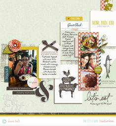Creative Team Inspiration | One Little Bird - Nosh and coordinating Journal Cards by One Little Bird; Plant Your Story - Journaled v4 by Sara Gleason