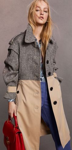 Donegal Tweed and Cotton Gabardine Trench Coat in Natural White/black - Women Trench Coats, Burberry Trench, Burberry Women, Women's Coats, Caramel Blond, Looks Style, My Style, Tweed, Mode Mantel