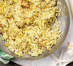 Turmeric pilau with golden onions recipe - Recipes - BBC Good Food Onion Recipes, Rice Recipes, Healthy Recipes, Roasted Shallots, Honey Roasted Carrots, Bbc Good Food Recipes, Indian Food Recipes, Ethnic Recipes