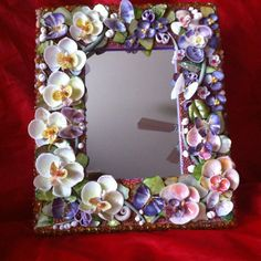 Unique Mirror with the Seashell Orchids&Butterflies 1 159,59 ₪