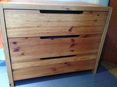Kommode Holz mit 3 Laden