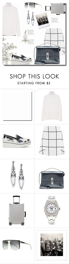 """""""Travel in Style!"""" by dragananovcic ❤ liked on Polyvore featuring Equipment, STELLA McCARTNEY, Chloé, Alexis Bittar, Balenciaga, Rimowa, Rolex, Gucci, Alexander Wang and women's clothing"""