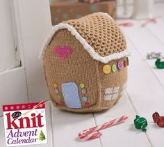 "Knitted Gingerbread House - Free Knitting Pattern ( You will need to be registered with ""Let's Knit"" to open the files, just click the Blue Box ""Sign Up to Download Pattern"" to fill register form) ( PDF File Zip format) here: http://www.letsknit.co.uk/free-knitting-patterns/gingerbread-house"