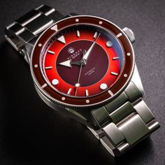 DRZ 03 Eclipse red – no date – Direnzo Watches Rolex Watches, Affordable Watches, Content, Accessories, Red, Collection, Ornament