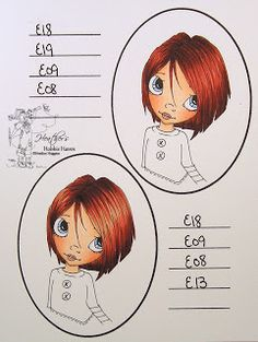 ed Canary  Friday, August 31, 2012  Hair Color 29,30 - Copic Markers...