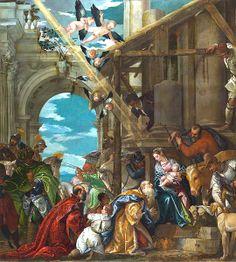 Corinthian Order: Paolo Caliari called 'Veronese' (Verona 1528 - Venice 1588), 'L'Adorazione dei Magi' (Adoration of the Magi), 1573, London, National Gallery