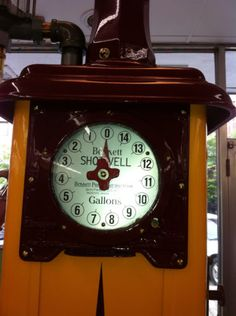 Antique-1925-Bennett-Shotwell-Model-550-5-Gallon-Gas-Pump-Restored