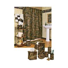 Camo Bathroom Sets Browning Bedding Bath Accessories Set on
