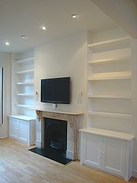white bookshelves in alcoves - Google Search