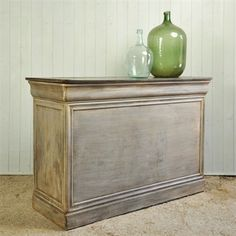 vintage shop counter as kitchen island, possibly