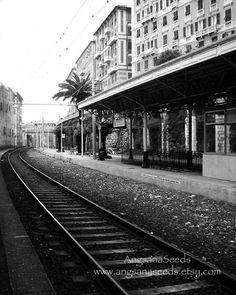 Italian riviera photo train station Dreamy Romance by AngsanaSeeds, $28.00