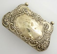 Antique 1901 Hallmarked Sterling Silver Purse Florence - The Collectors Bag