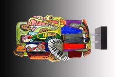 Elliott Hubbard - 3D Mixed Media #ChastainParkArtsFestival #art #fair #artfestival #paintings #pottery #glass #jewelry #clay #photography #fiber #oils #mixedmedia #metal #bronze #stone #acrylic #sculpture #watercolor #ceramics #atlanta