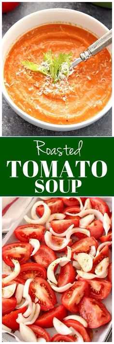 Rich in flavor creamy soup that is the best served with thick grilled cheese. This tomato soup is healthy and made with a handful of ingredients.