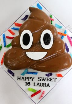 Celebrate with Cake!: Poop Emoticon Cake