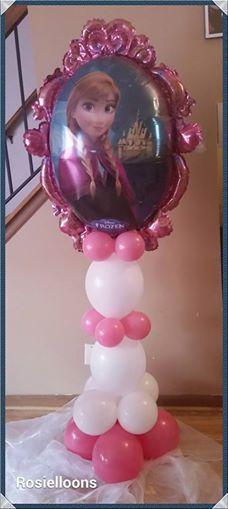 rosielloons Frozen Birthday Theme, Frozen Theme Party, Birthday Diy, Birthday Parties, Balloon Centerpieces, Balloon Decorations, Frozen Balloons, Anna Und Elsa, Party Themes