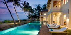 Sri Villas near Bentota, Sri Lanka: 3 boutique beach villas framed by lush gardens with unrivalled views of the Indian Ocean.
