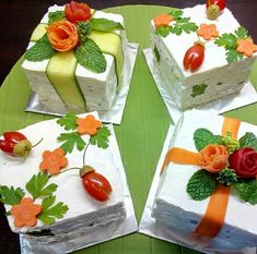 Tortas Sandwich, Sandwich Cake, Salad Design, Food Design, Coffee Recipes, Raw Food Recipes, Dreamsicle Salad Recipe, Kids Meals, Easy Meals