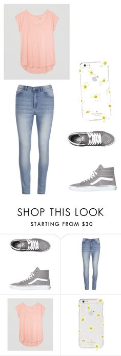 """casual"" by kourtneypaige13 ❤ liked on Polyvore featuring Vans, Cheap Monday, LOFT and Kate Spade"