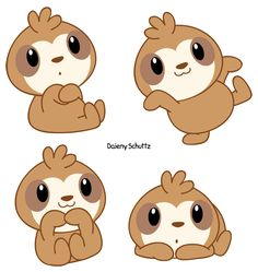 Chibi Sloth by Daieny.deviantart.com on @DeviantArt