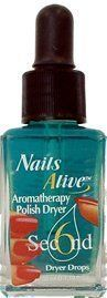 Nails Alive 6 Second Polish Dryer by Nail Alive. $8.10. nail treatment. Large 1.19oz. bottle Easy drop-on application Pleasant aroma therapeutic finish to a perfect manicure Dries polish fast ~ 6 Seconds Leaves polish super shiny Dries polish and moisturizes cuticles Directions: 1. After polishing nails put 1 drop of polish dryer on each nail. (Holding dropper horizontally gives better control) 2. Massage residual product into cuticles and hands for a moisturizing, conditio...