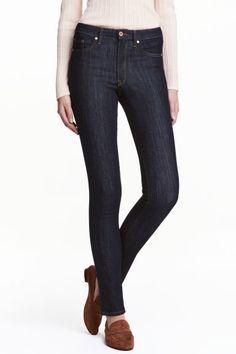 Skinny Regular Jeans - Bleu denim foncé - FEMME | H&M FR 1