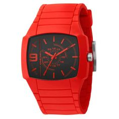 Montre bracelet rouge Diesel Young Blood #watch