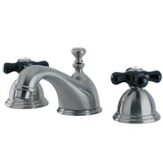 Kingston Brass KS3968PKX Duchess Widespread Lavatory Faucet with Cross Handle, Satin Nickel - Price: $399.95 & FREE Shipping over $99