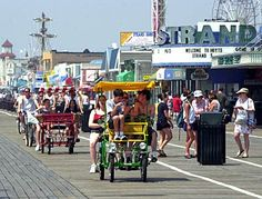 Ocean City, N.J. boardwalk ~ Fun memories riding in a surrey with our kids