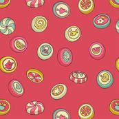 candy - no wrapper - contrasty pink fabric by celandine for sale on Spoonflower - custom fabric, wallpaper and wall decals