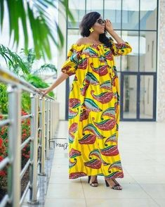 We love how designers have been creative with old styles and revamped them into new looks that are to love. There are so many African print styles out there but… African Maxi Dresses, African Fashion Ankara, Latest African Fashion Dresses, African Dresses For Women, African Print Fashion, Ghanaian Fashion, Africa Fashion, African Attire, African Wear