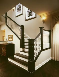 Staircase treads and railings